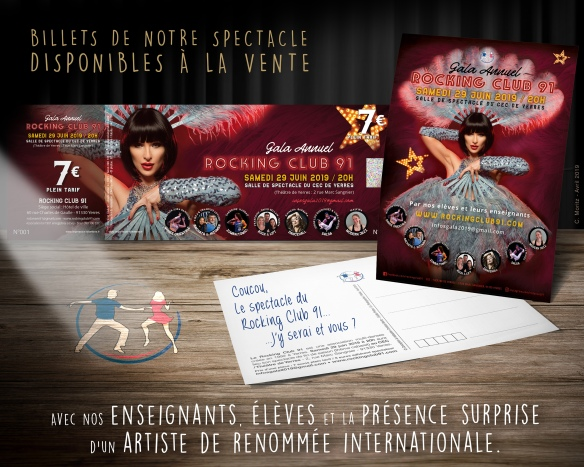 2019 Spectacle de danse à Yerres - Vente des billets du Rocking Club 91